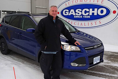 Gascho client with new car