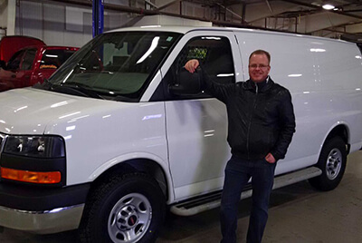 Gashco Client with New white van