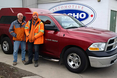 Happy Men with their new truck from Gascho