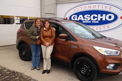 Happy Women with their new car from Gascho